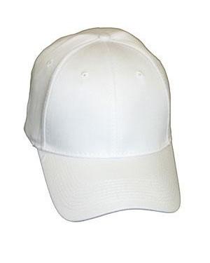 Baseball Cap - Polycotton - White
