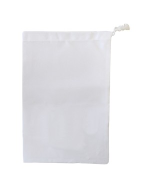 Premium Drawstring with Stopper - Canvas - White - 30cm x 45cm
