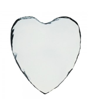 Photo Slate - MATT Finish - Medium Heart - 25cm x 20cm