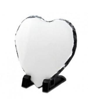 Photo Slate - Matt Finish - Large Heart - 20cm x 20cm
