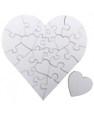 Jigsaw Puzzles - MDF - Heart - 24pcs