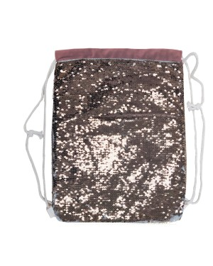 Sequin DRAWSTRING Bag - 38.5cm x 30cm - CHAMPAGNE GOLD
