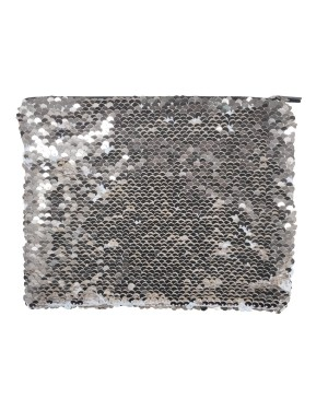 Sequin Purse/ Pouch - 15cm x 20cm - SILVER