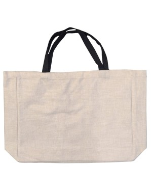 Bags - LINEN -Shopping Bag with Black Handles - 38cm x 48cm