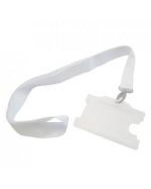Sublimation Lanyard/ ID Badge Holder - White