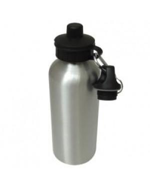 Water Bottles - Two Lids - 500ml - Silver