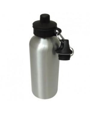 Water Bottles - Two Lids - 600ml - Silver