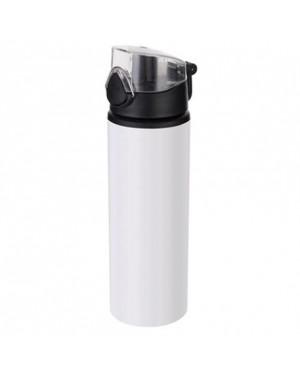 Water Bottles - BLACK - Coloured Flip Lid - 750ml - White