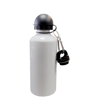 Water Bottles - COLOURED Two Lids (BLACK) - 600ml