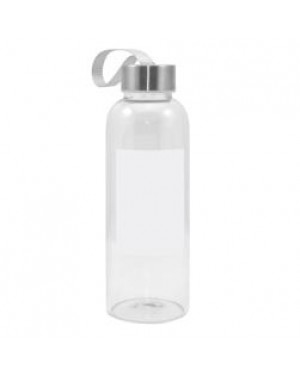 420ml Glass Water Bottle with White Printable Patch