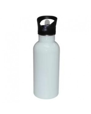 Water Bottles - Straw Top - STAINLESS STEEL - 500ml - White