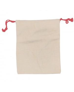 Drawstring Bag / Christmas Sack - Linen Style - 30cm x 38.5cm