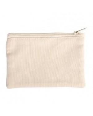 Bags - Pouch with Zipper - Canvas Texture - 18cm x 12.5cm