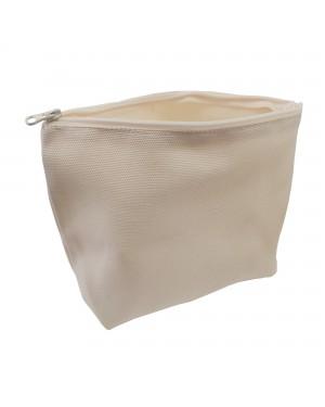 Bags - Pouch with Zipper - Canvas Texture - 19cm x 24cm