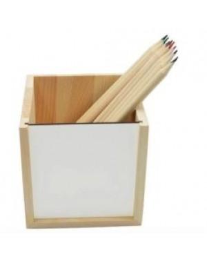 MDF - Pencil Pot/ Holder - 10cm x 10cm x 10cm