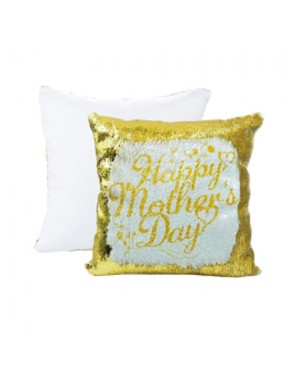 Sublimation Gold Sequins Cushion Cover 40cm