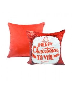 Sublimation Red Sequins Cushion Cover 40cm