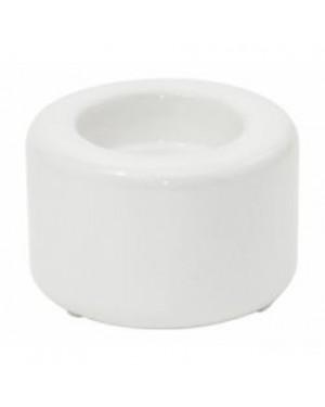 Tealight Candle Holder - Ceramic - White