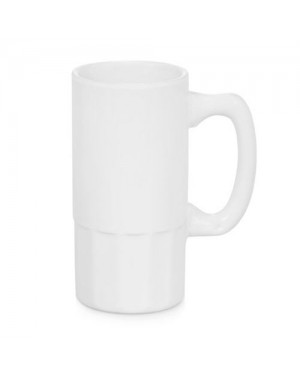 Sublimation white beer mug