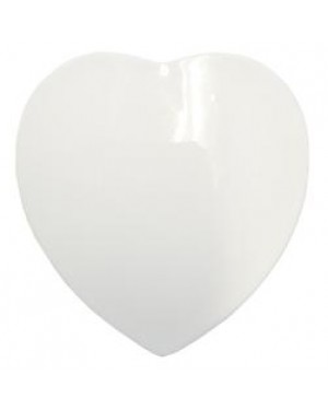 4 Inch Ceramic Heart Shaped Tile for Sublimation