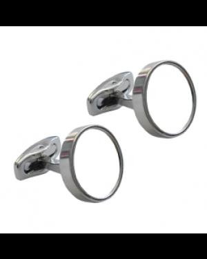 Cufflinks - Premier Range - Chrome - Round - Pair