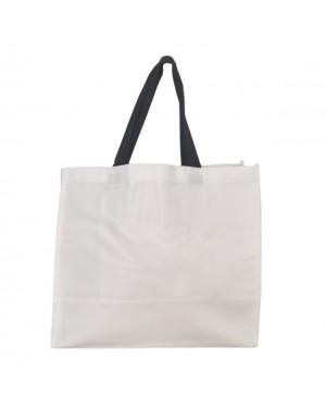 Shopping / Beach Bag with Black Handles - 35cm x 41cm
