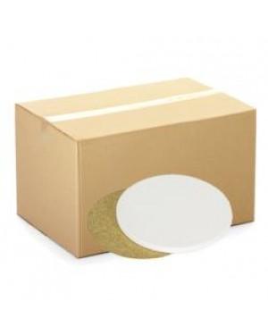 CARTON (144 pcs) - Coaster - Ceramic - Round - 10.5cm - Cork Base