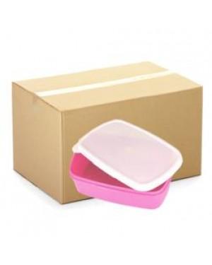 Lunchbox - CARTON (48 pcs) - Plastic - Small - Pink