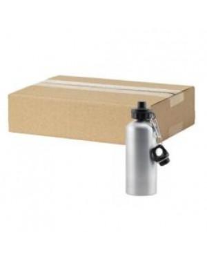 FULL CARTON - 60 x Aluminium 400ml Sublimation Water Bottles - Silver
