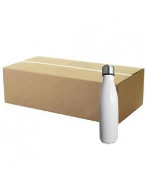 FULL CARTON - Bowling Double Walled Stainless Steel Sublimation Water Bottle - 500ml - White