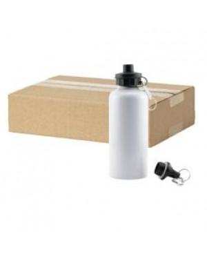 FULL CARTON - 60 x Aluminium 600ml Sublimation Water Bottles - White