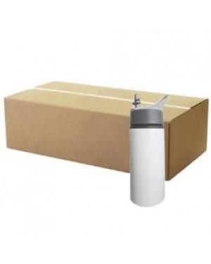 FULL CARTON - 60 x Handled 650ml Water Bottle - White