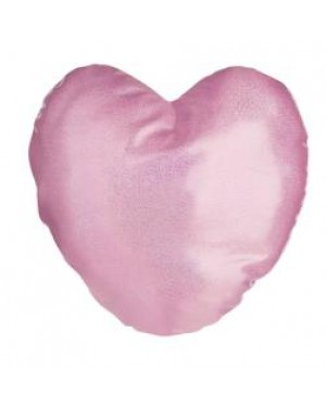 Cushion Cover - Glitter - Pink - 40cm x 40cm - Heart