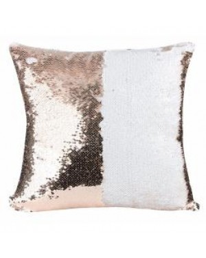 Cushion Cover - Sequins - Champagne Gold - 40cm x 40cm - Square