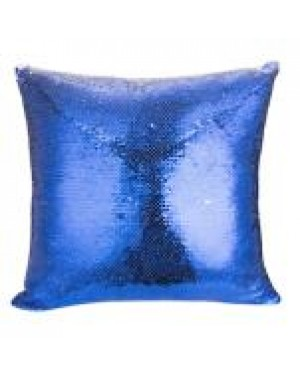 Sublimation Square Reversible Blue Sequins Cushion Cover - 40cm x 40cm