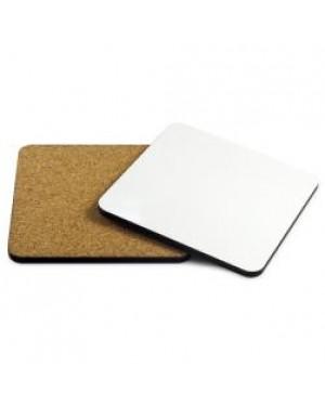 Coaster - 10 x MDF - Square - 9.5cm - Cork Base