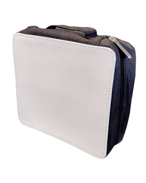 Bags - Fabric Cosmetic Storage Bag with Removable Compartments - Black