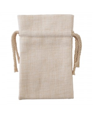 Bags - DOUBLE DRAWSTRING - Thick Linen - 10cm x 15cm