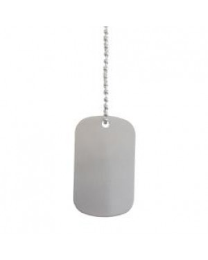Dog Tag - Steel - Double Sided