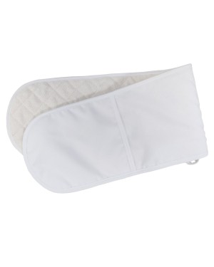 DOUBLE Oven Glove - 18.5cm x 83cm - White