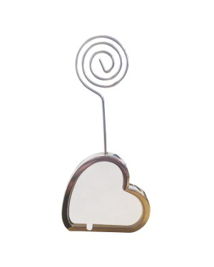 Desktop Stand/ Placeholder with Metal Insert - Heart