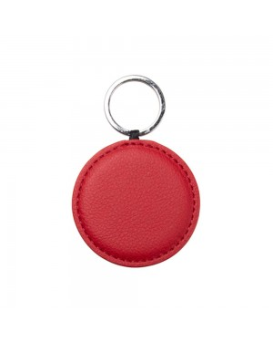 Engravables - LEATHER - Ornament - ROUND - 5cm - Red