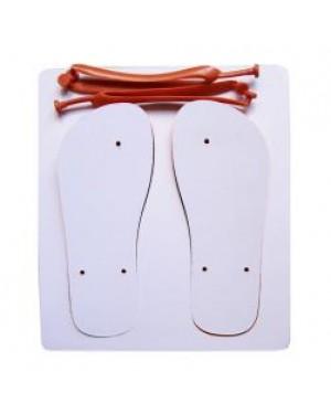 Flip Flops - Child Size - Orange Straps - Large