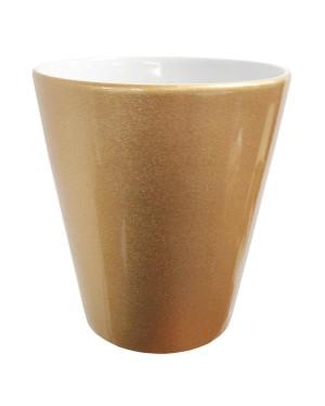 GOLD - 12oz Ceramic Flowerpot