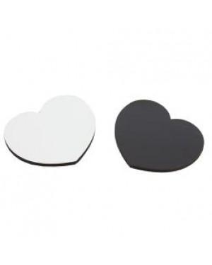 Fridge Magnet - MDF - Heart - 6cm x 5.1cm