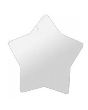 Fridge Magnet - MDF - Star - 6cm x 5.7cm