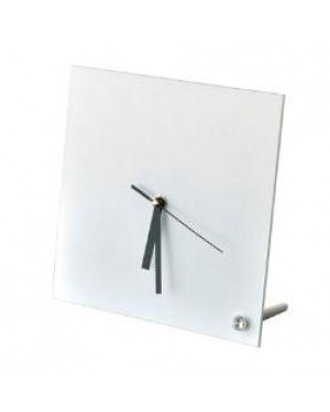 Clock - Glass - GLOSS - Square - 20cm Desk Clock