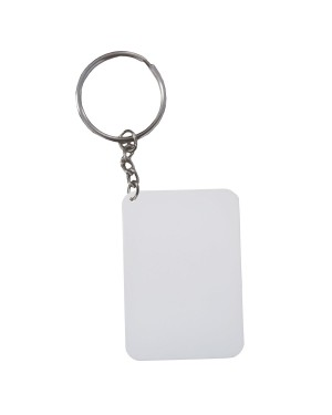 Keyring - 10 x Polymer - Thick Rectangle - 6.5cm x 4.5cm