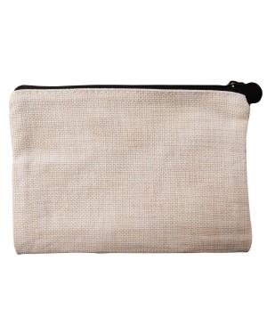Zip Up Bag - Linen - 12cm x 17.5cm