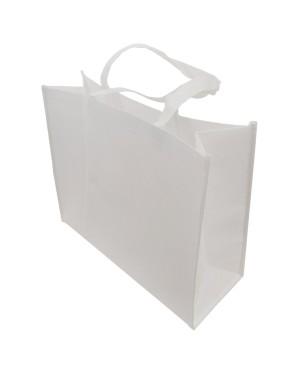 Shopping Bag with Gusset - Fibre Paper - 32cm x 30cm - Short Handles